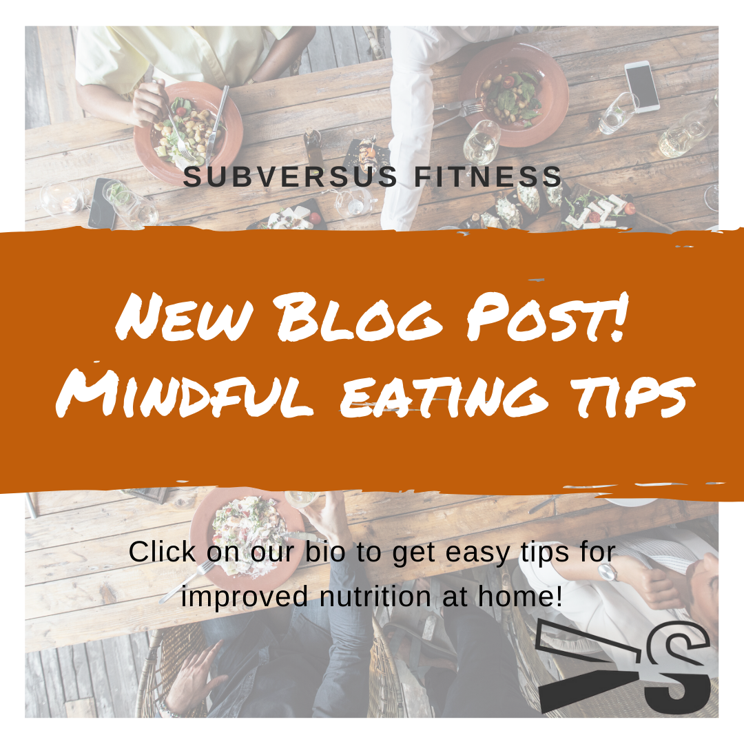 Tips for mindful eating!
