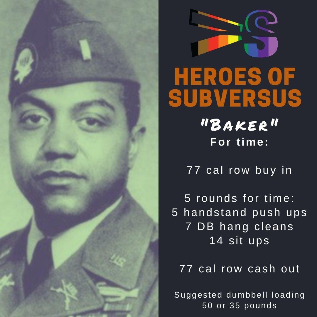 "Veteran's Day Hero Workout- ""Baker"""